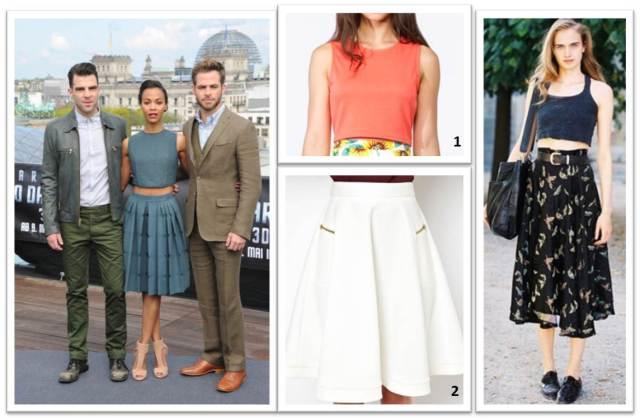Tight Crop - Midi Skirt